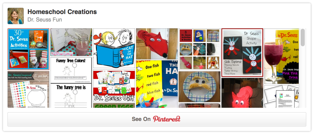 Dr Seuss Pinterest Board