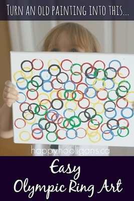 Easy-Olympic-Ring-Art