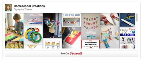 Olympic Theme Pinterest Board