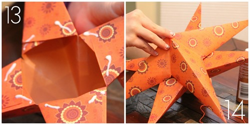 Paper Star Tutorial final step from homeschoolcreations.net