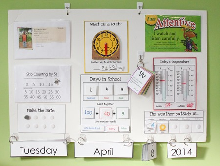 Calendar Board and printables from Homeschool Creations-1
