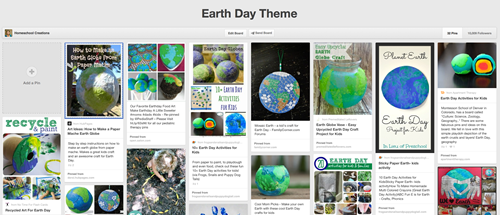 Earth Day Pinterest board