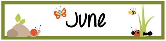 Calendar Monthly Headers : June pocket chart calendar pieces free printable