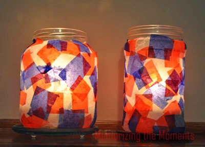 4th of July candle jars