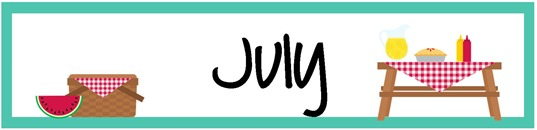 May Calendar Heading : July pocket chart calendar pieces freebie printable