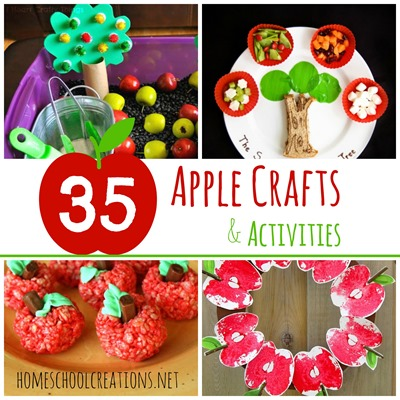 35 Apple crafts and activities for preschool and kindergarten