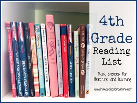 4th grade homeschool reading list