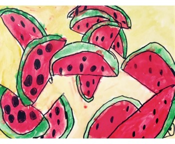 watercolor watermelon art project