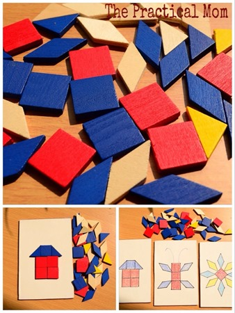 make your own pattern block boards