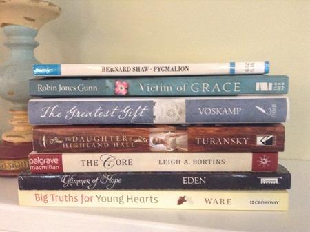 December book stack