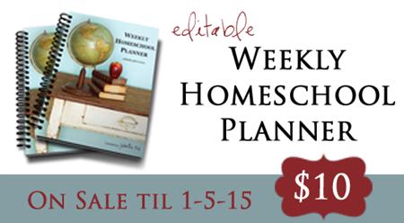 Homeschool Planner Sale 2014