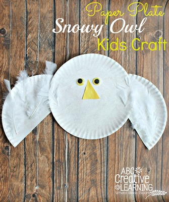 Paper-Plate-Snowy-Owl-Kids-Craft