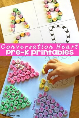 candy heart printables