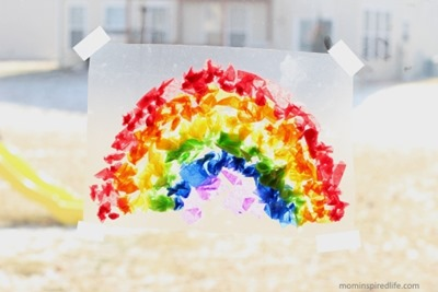 Tissue-Paper-Rainbow-Suncatcher-6