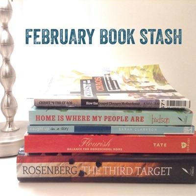 february book pile