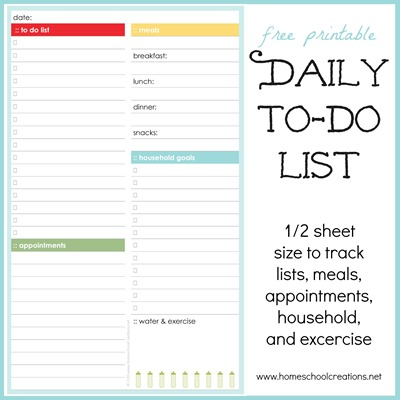 daily to do list daily docket