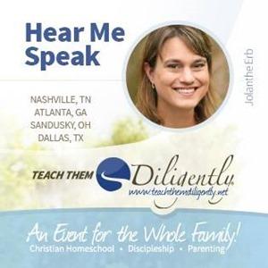 Hear me speak at Teach Them Diligently