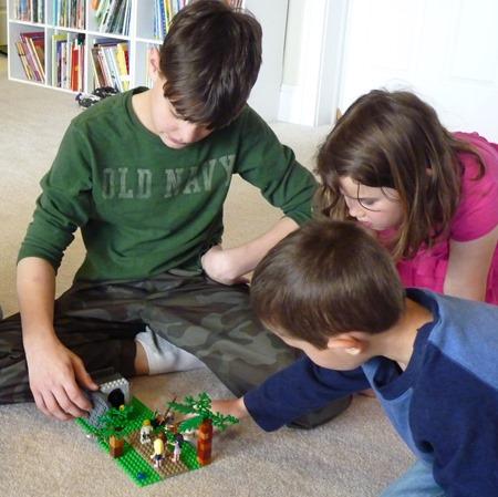 Lego Easter scenes-16