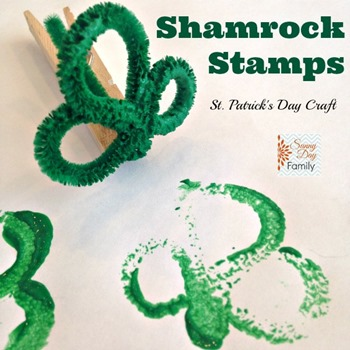 Shamrock Stamps square