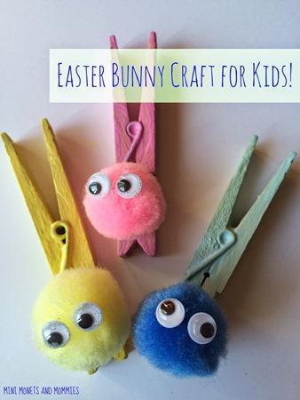 bunny clothespin craft