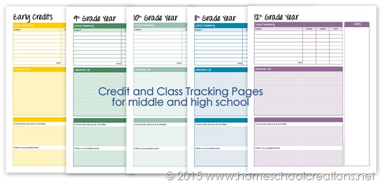 credit and class tracking for high school