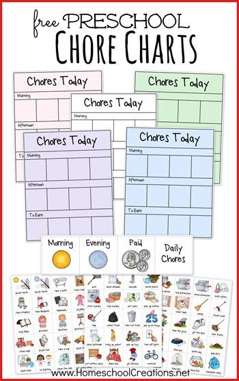free Preschool Chore Charts