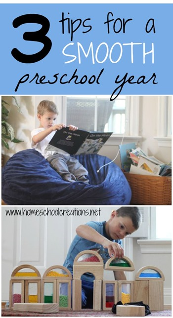 3 tips for a smooth homepreschool year
