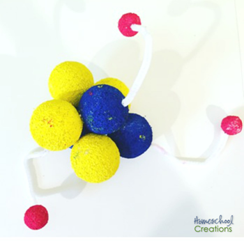 3D lithium atom model project for kids