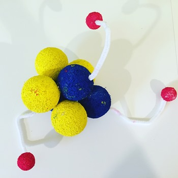 3D lithium atom model project
