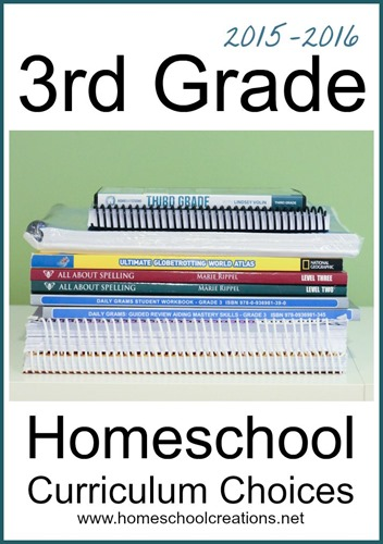 3rd grade homeschool curriculum choices from Homeschool Creations