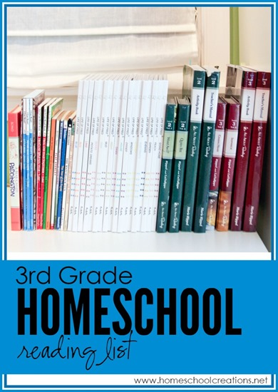 Our Third Grade Homeschool Reading List