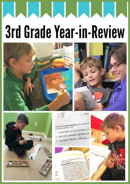 3rd grade homeschool year in review