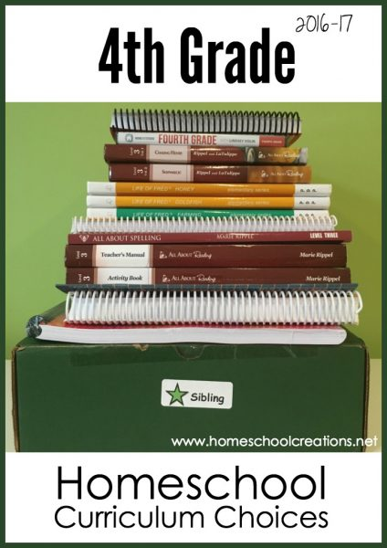 4th grade homeschool curriculum choices - from Homeschool Creations