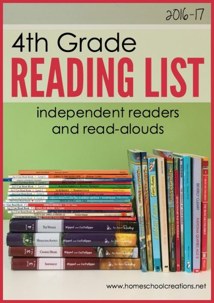 4th grade reading list 2016 - independent readers and read-alouds for the year
