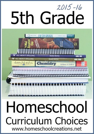 5th grade homeschool curriculum choices from Homeschool Creations