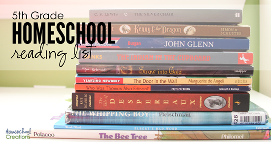 5th grade homeschool reading list