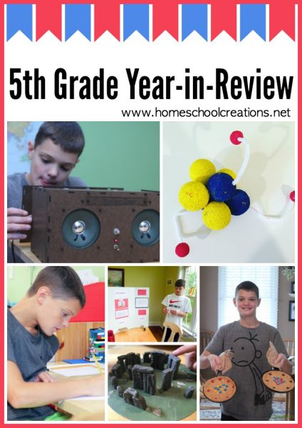 5th grade homeschool year in review