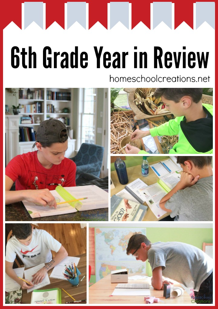 6th Grade Year In Review Homeschool Curriculum Choices