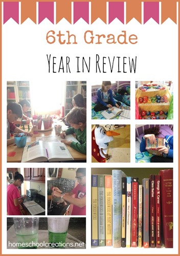 6th grade homeschool year in review