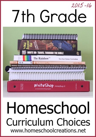 7th Grade Homeschool Curriculum Choices 2015
