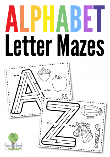 Alphabet Letter Mazes - full set from A to Z