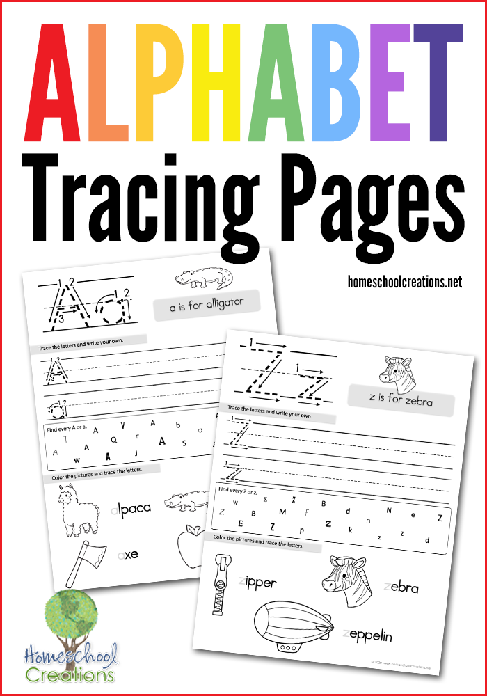 Alphabet Tracing Pages - FREE Printable