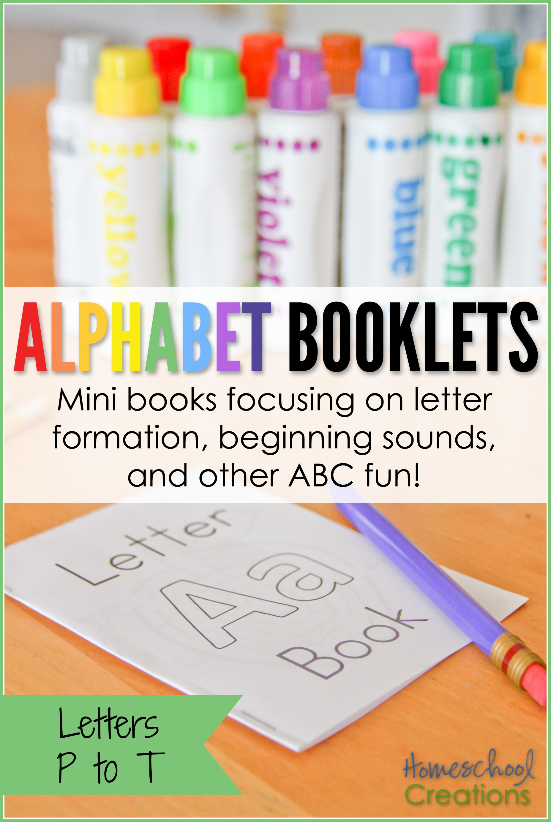 photograph regarding Printable Mini Booklets called Alphabet Mini Booklets - Letters P toward T (Cost-free Printable)
