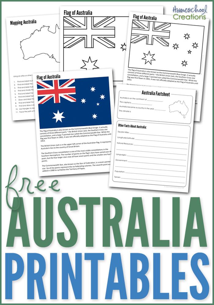 Australia Geography Printables Free Printables