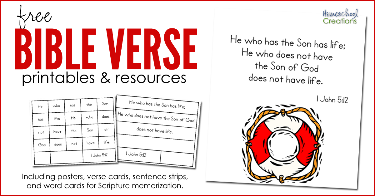 graphic relating to Printable Bible Verse Cards identified as Bible Verse Printables and Elements