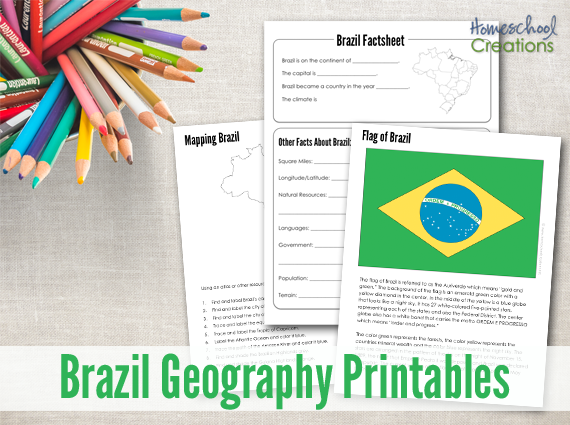 graphic regarding Brazil Flag Printable identified as Brazil Geography Printables - Cost-free Printable Down load