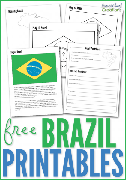 picture about Brazil Flag Printable identify Brazil Geography Printables - No cost Printable Down load