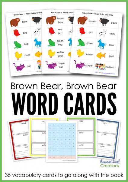 Brown Bear Brown Bear Vocabulary Cards Free Printables
