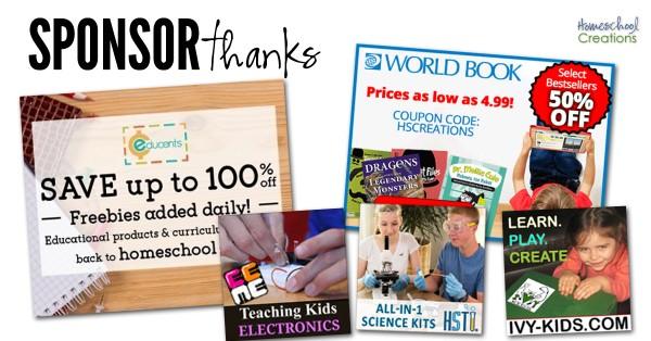 Companies to Thank Homeschool Creations