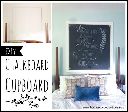 DIY Chalkboard Cupboard